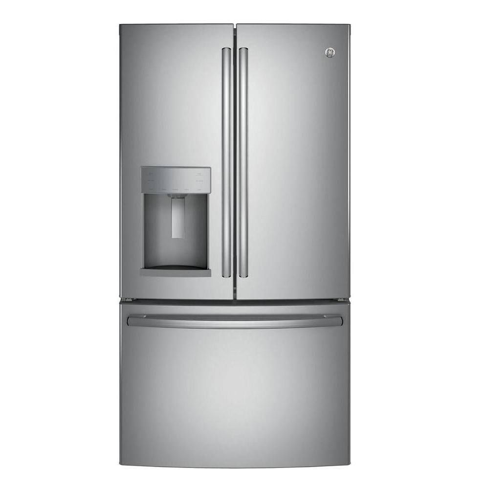 Home Depot Fridges Canada Ge 27 8 Cu Ft French Door Refrigerator In Stainless Steel Energy Star