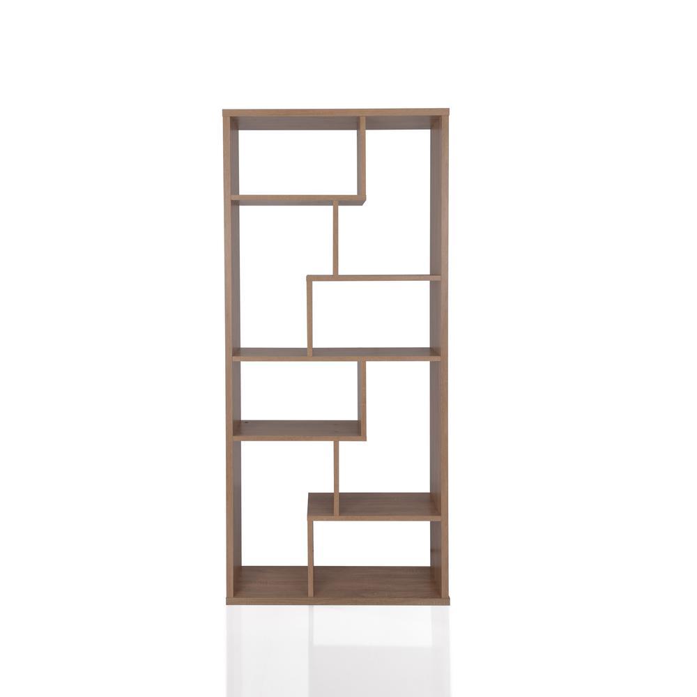 Acme Furniture Cora Weathered Oak Cube Bookcase 92402