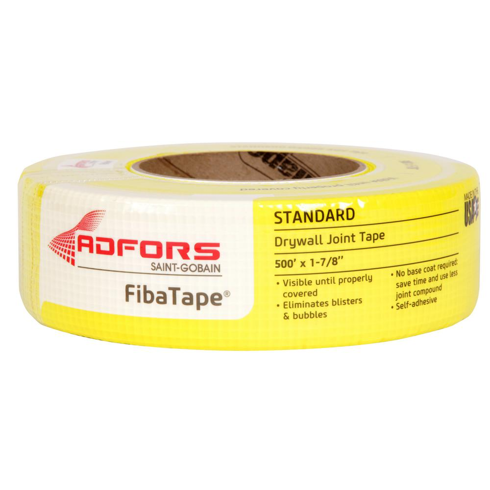 Drywall Paper Tape Saint Gobain Adfors Fibatape Standard Yellow 1 7 8 In X 300 Ft Self Adhesive Mesh Drywall Joint Tape