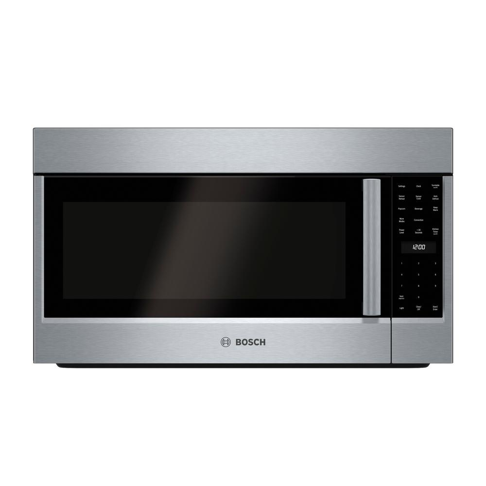 Bosch Microwave Bosch 800 Series 30 In 1 8 Cu Ft Over The Range Convection Microwave In Stainless Steel