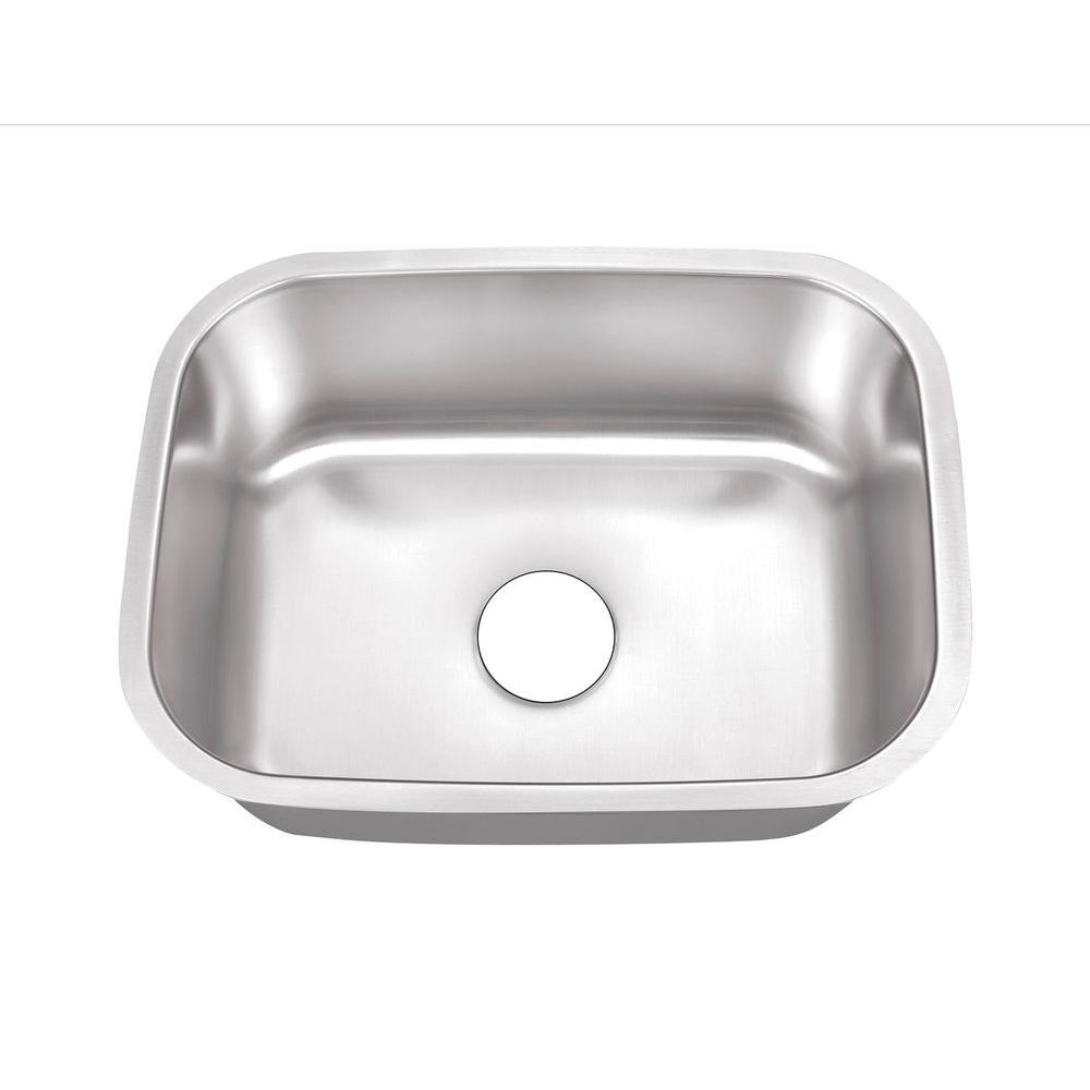 Belle Foret Farmhouse Sink Undermount Stainless Steel 24 In Hole Single Bowl Kitchen Sink