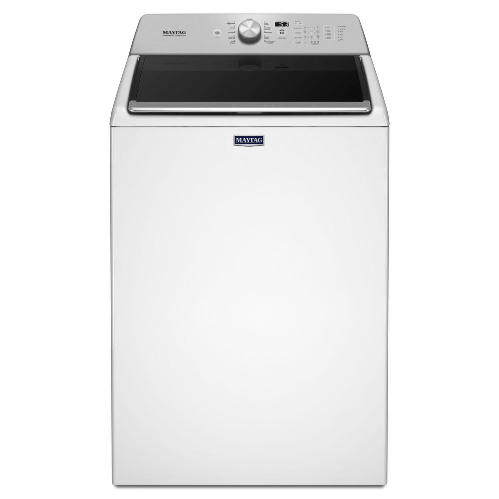 Maytag 4 7 Cu Ft High Efficiency Top Load Washer With Powerwash Cycle In White Mvwb765fw The - Top Loading Washers