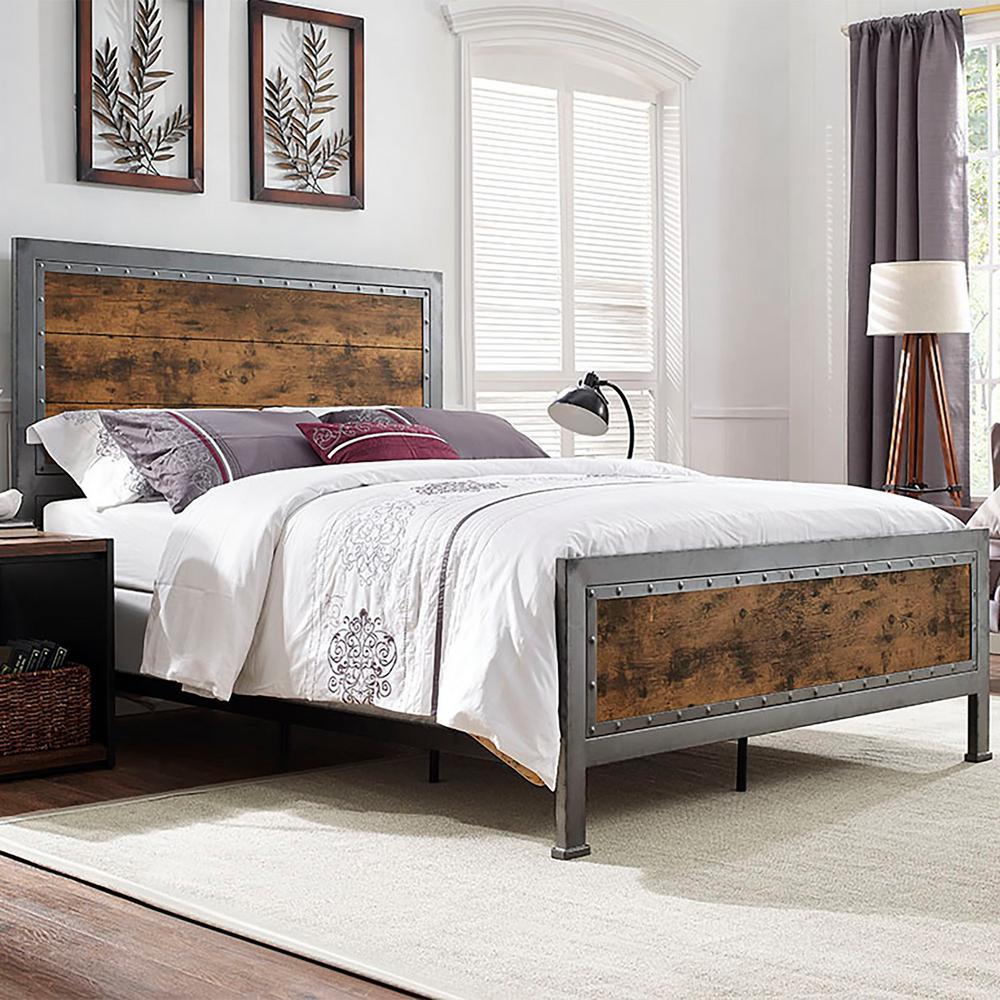 Queen Bed Frame Walker Edison Furniture Company Brown Queen Bed Frame