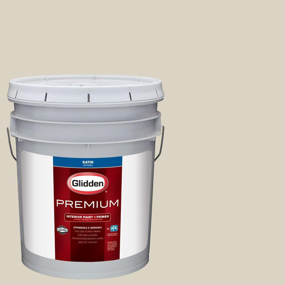 White Sage Paint Glidden Premium 5 Gal Hdgwn54 White Sage Satin Interior Paint With Primer