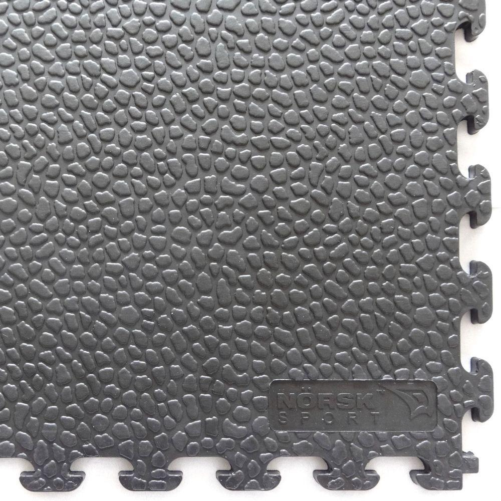 Gym Mat Flooring Norsk Rhino Tec 18 3 In X 18 3 In Dove Gray Pvc Sport And Gym Flooring Tile 6 Pieces