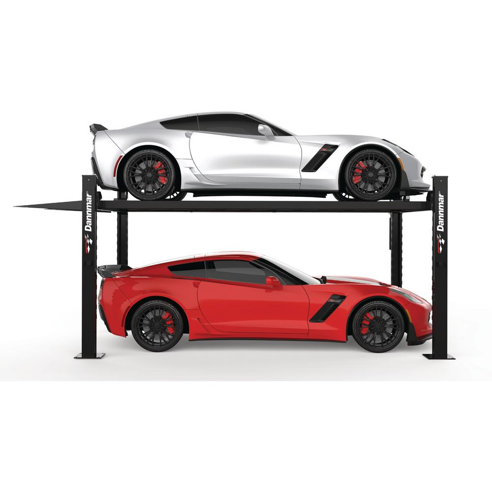 Car Lift In Garage Dannmar D 7 7 000 Lb Vehicle 4 Post Lift