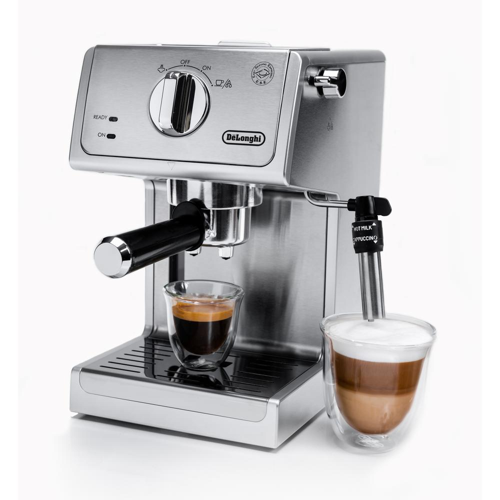 Cappuccino Machine Details About Delonghi Espresso Cappuccino Coffee Maker Machine 15 Bar Pump In Stainless Steel