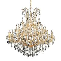 Elegant Lighting 41-Light Gold Chandelier with Clear ...