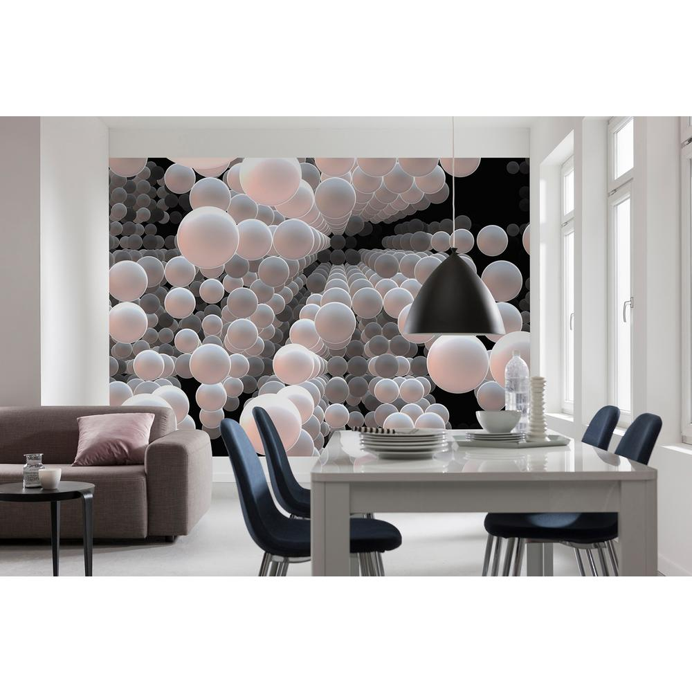 Wall Mural Ideas For Living Room Abstract 3d Spherical Wall Mural