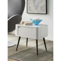 4D Concepts Mid-Century White and Black Storage Side Table ...