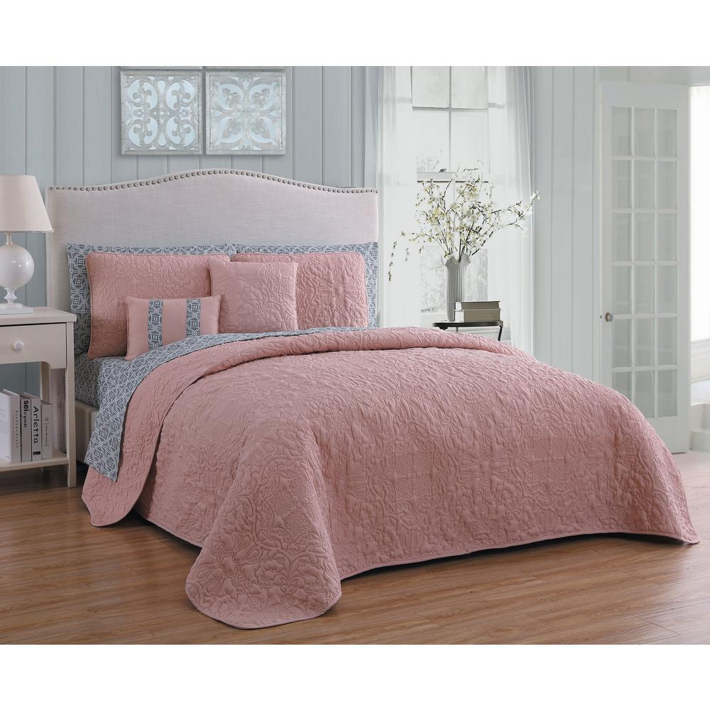 Blush Pink Quilt Cover Melbourne 9 Piece Blush Grey King Quilt Set