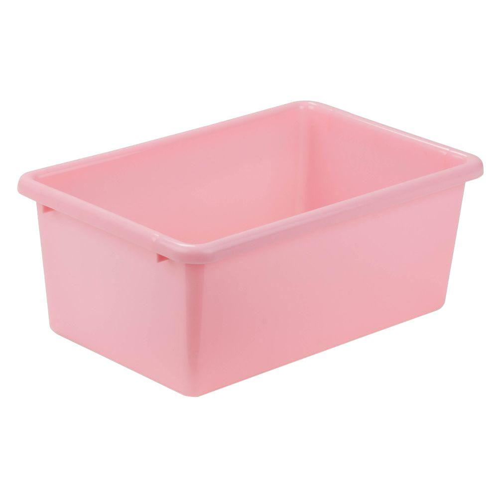 Pink Bins Honey Can Do 7 9 Qt Storage Bin In Light Pink