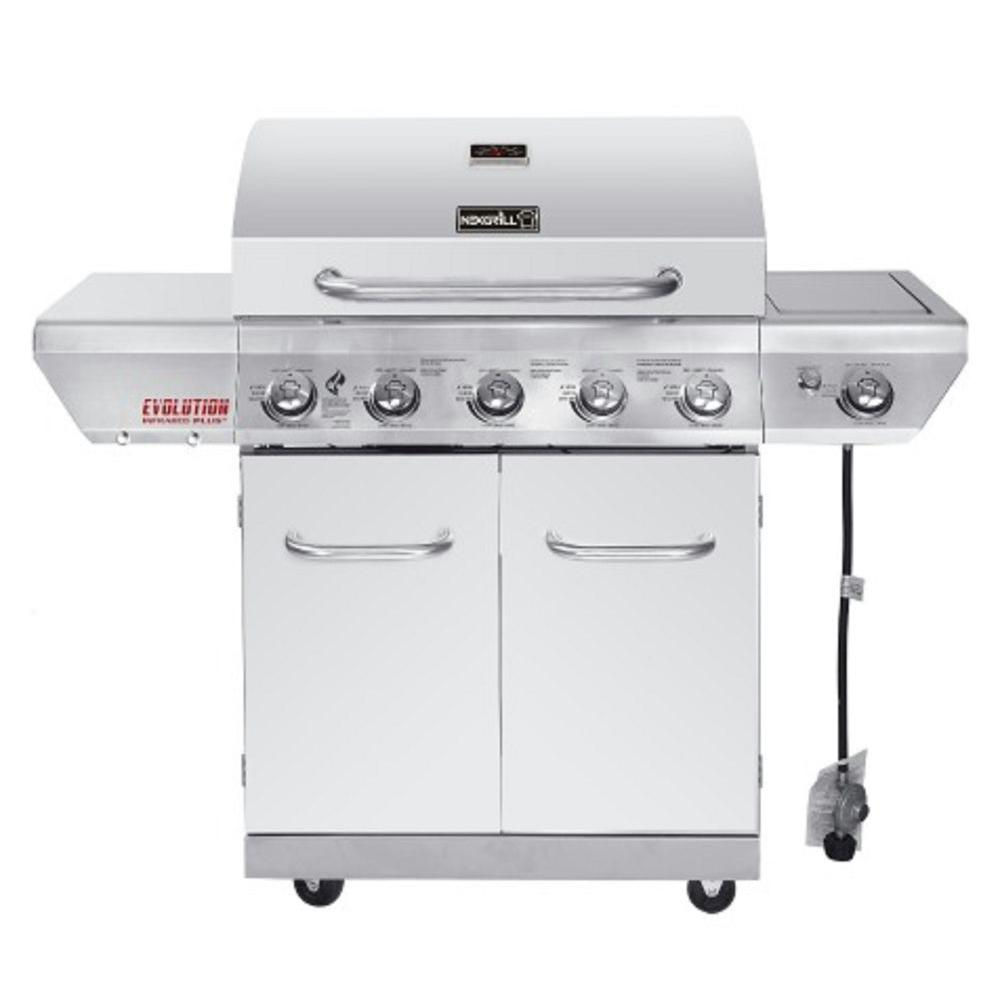 Gasgrill Seattle Nexgrill Evolution 5 Burner Propane Gas Grill In Stainless Steel With Side Burner And Infrared Technology