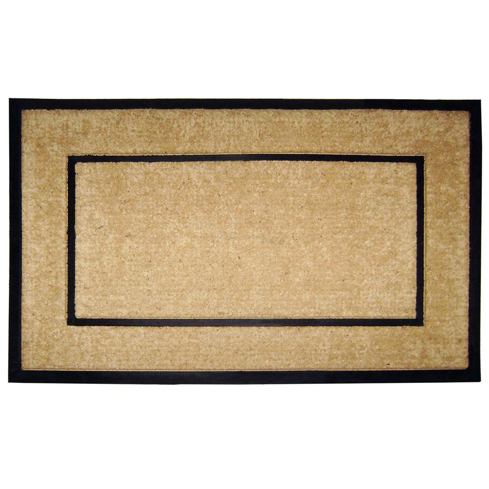 Large Frame Mat Nedia Home Dirtbuster Single Picture Frame Black 30 In X 48 In Coir With Rubber Border Monogrammed B Door Mat