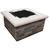 Oldcastle 24 in. x 44 in. x 44 in. Stone Natural Gas Fire ...