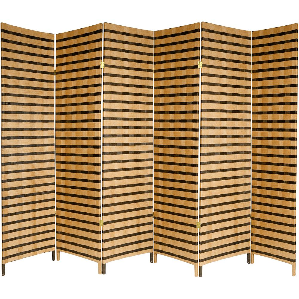 Room Dividers Home Depot Ore International 5 56 Ft Brown 4 Panel Room Divider Fw0676rd