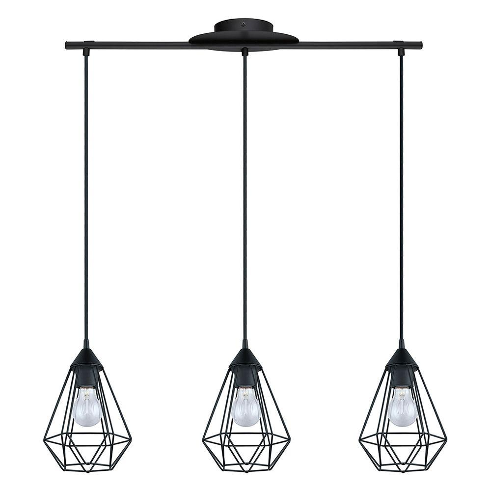 Luminaire Paulmann Leroy Merlin Eglo Tarbes 3-light Matte Black Pendant-94189a - The Home