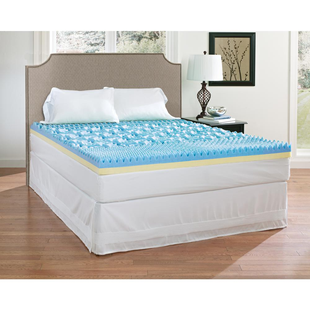 Memory Foam Mattress Toppers Broyhill 4 In California King Gel Memory Foam Mattress Topper