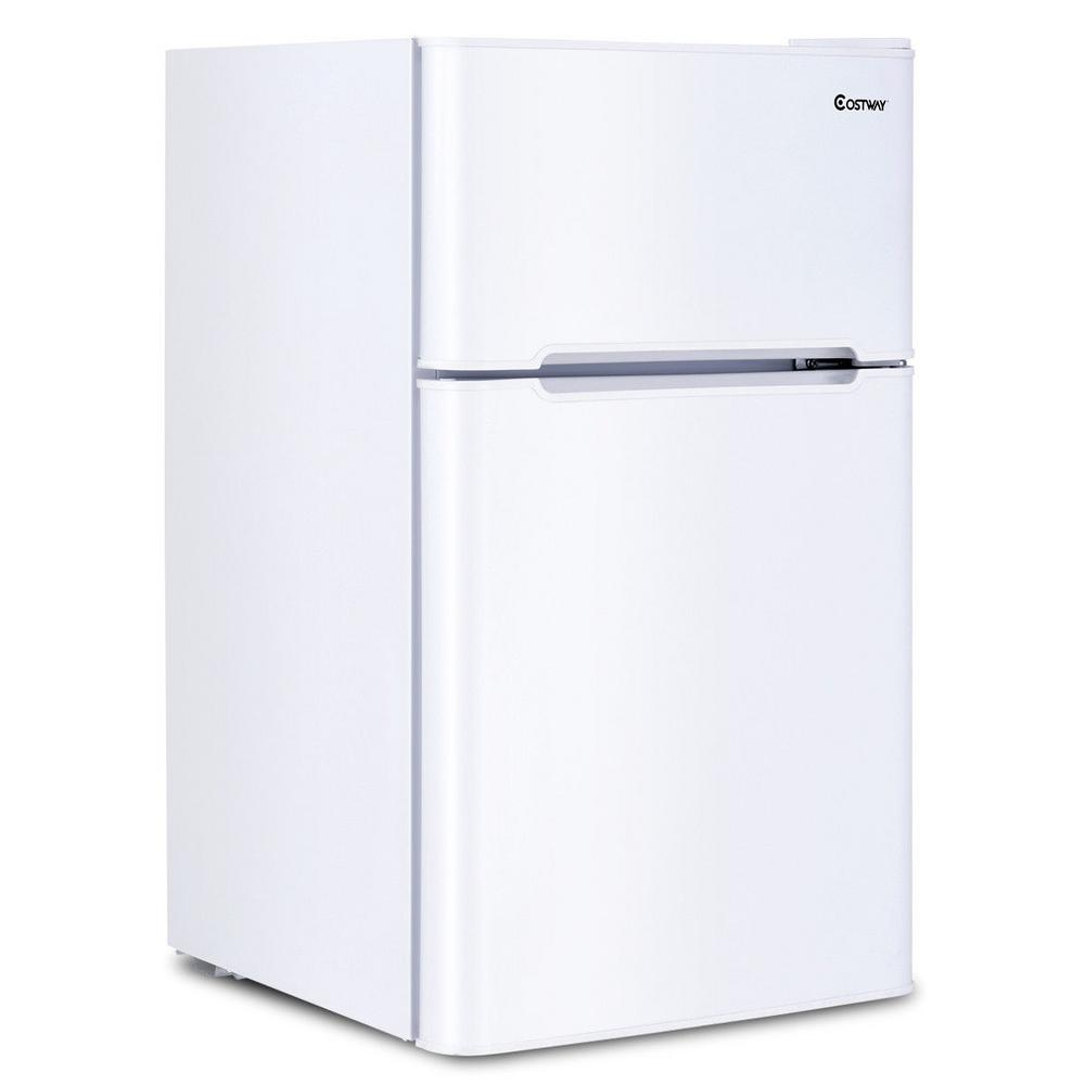 Small Freezer Canada Costway 3 2 Cu Ft Mini Fridges Stainless Steel Refrigerator Small Freezer Cooler Fridge Compact Unit In White