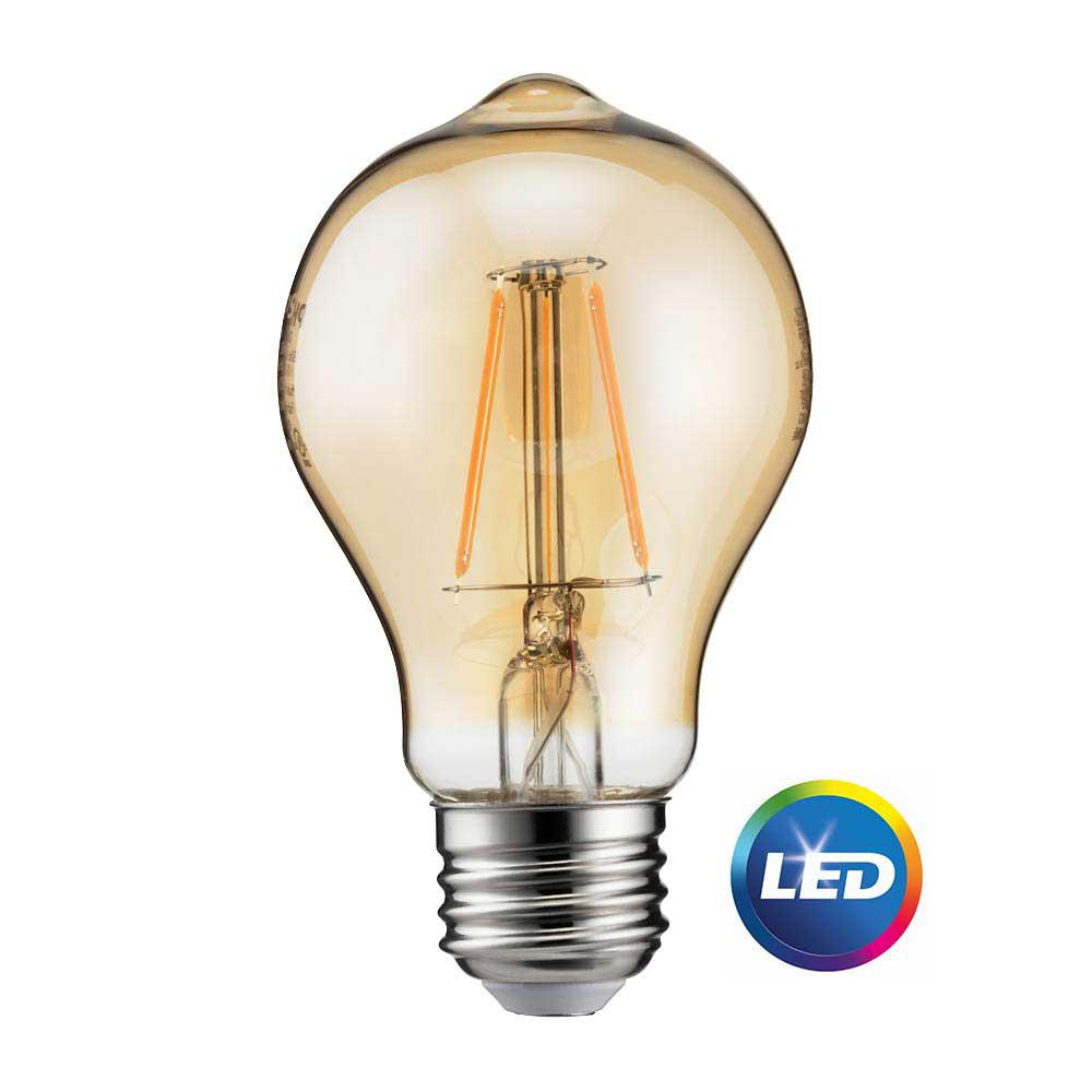 Lightbulb Lights Philips 60 Watt Equivalent A19 Dimmable Energy Saving Vintage Edison Glass Led Light Bulb Amber Warm Light 2200k