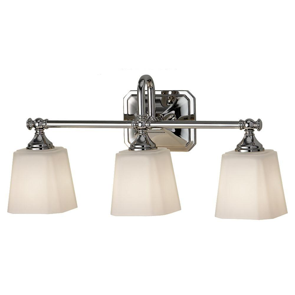 Bathroom Wall Lights Above Mirror Feiss Concord 3 Light Polished Nickel Vanity Light