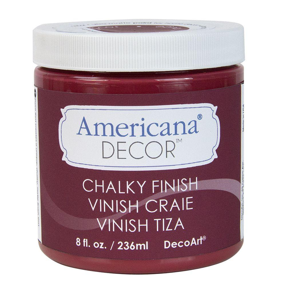 Americana Decor Chalky Finish Decoart Americana Decor 8 Oz Rouge Chalky Paint