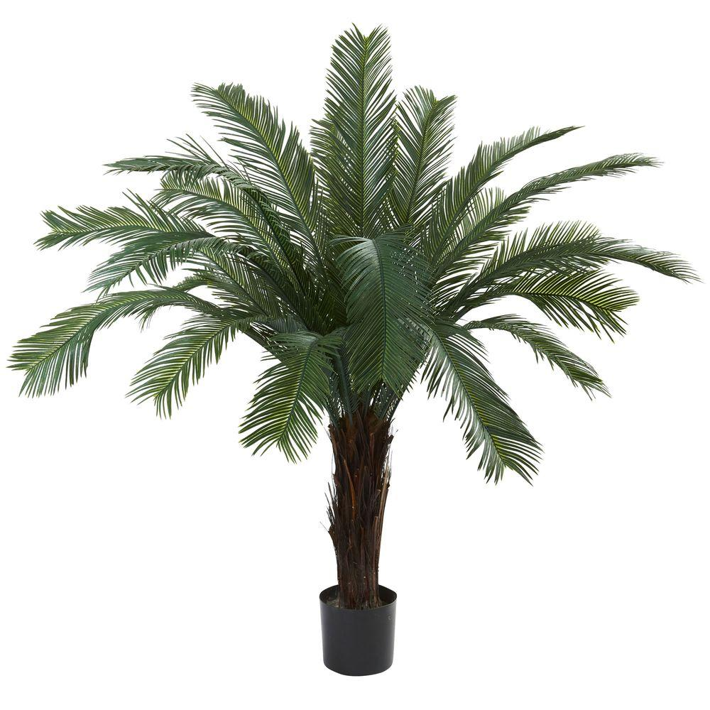 Home Depot Palm Trees 5 Ft Uv Resistant Indoor Outdoor Cycas Tree