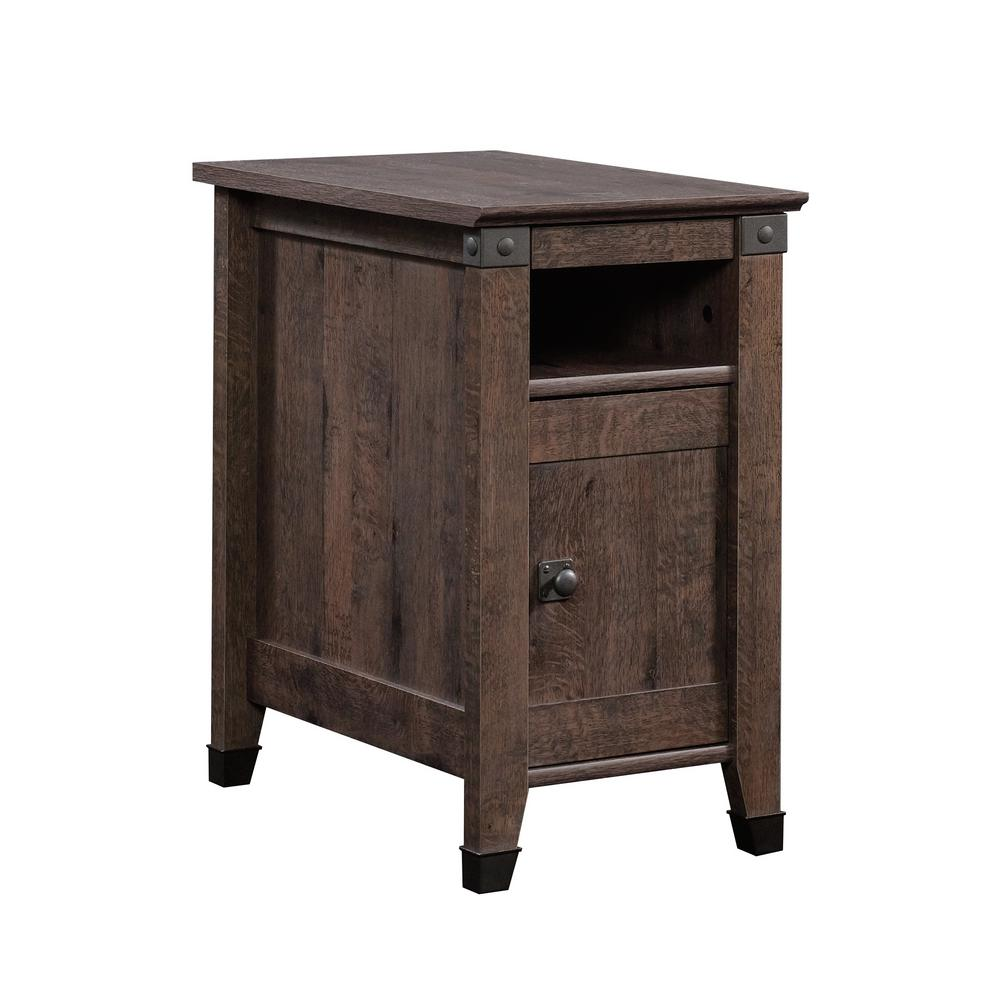 Coffee And End Tables With Storage Sauder Carson Forge Coffee Oak Storage Side Table