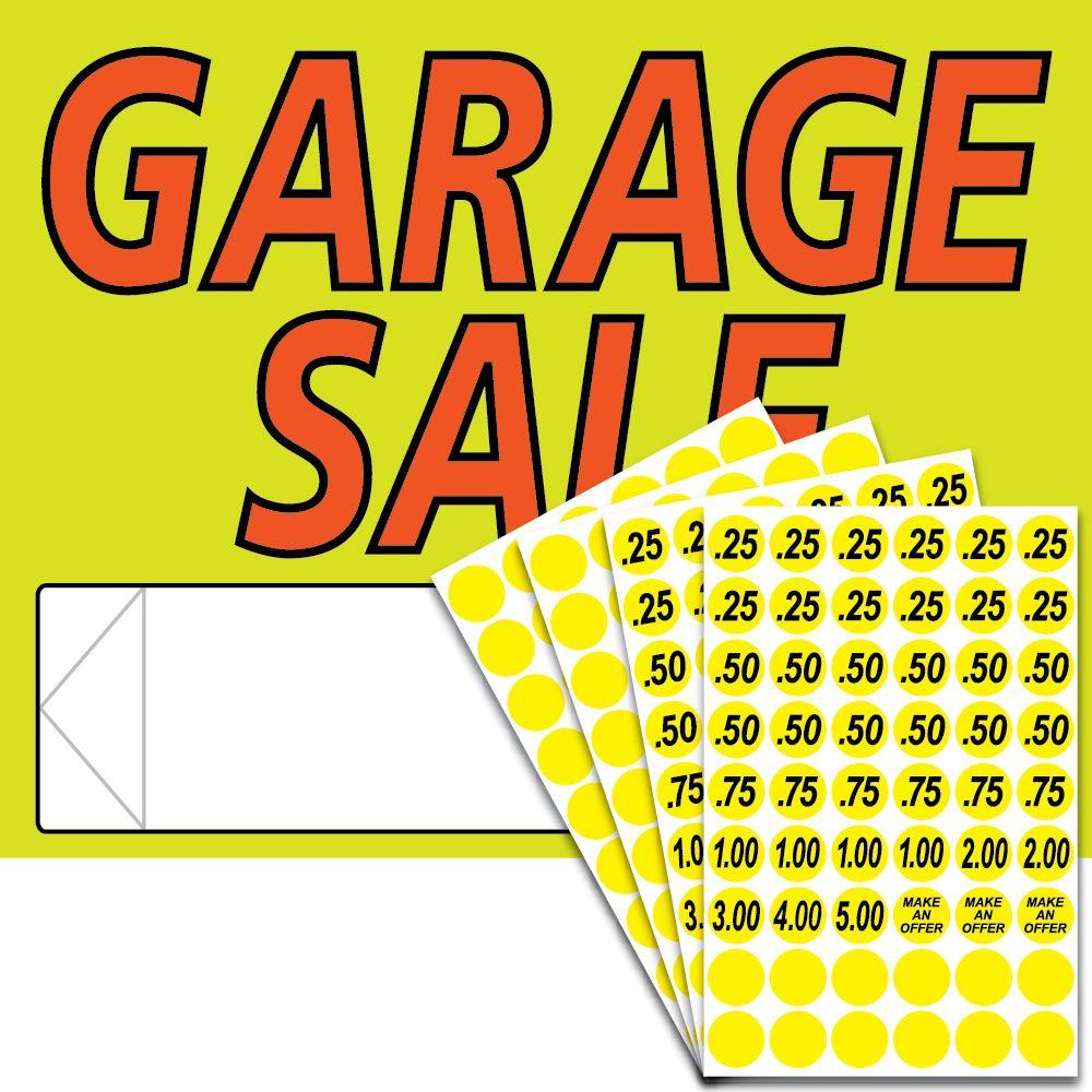 Garage Sale Dots Hy Ko 11 In X 14 In Plastic Garage Sale Sign Kit With Price Dots