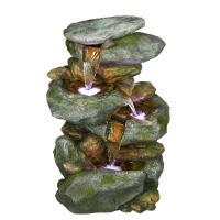 Alpine Rock Waterfall Fountain with LED Lights-WIN582 ...