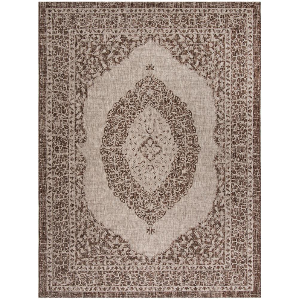 Safavieh Courtyard Safavieh Courtyard Light Beige Light Brown 8 Ft X 11 Ft Indoor Outdoor Area Rug