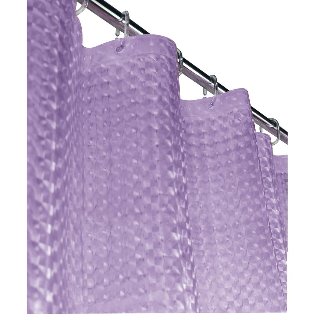 Lavender Shower Curtains Mirage 72 In Lilac 3d Shower Curtain