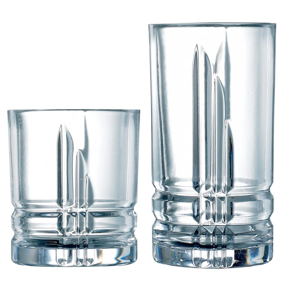 Luminarc Glass Luminarc Parallels 16 Piece Tumbler Set