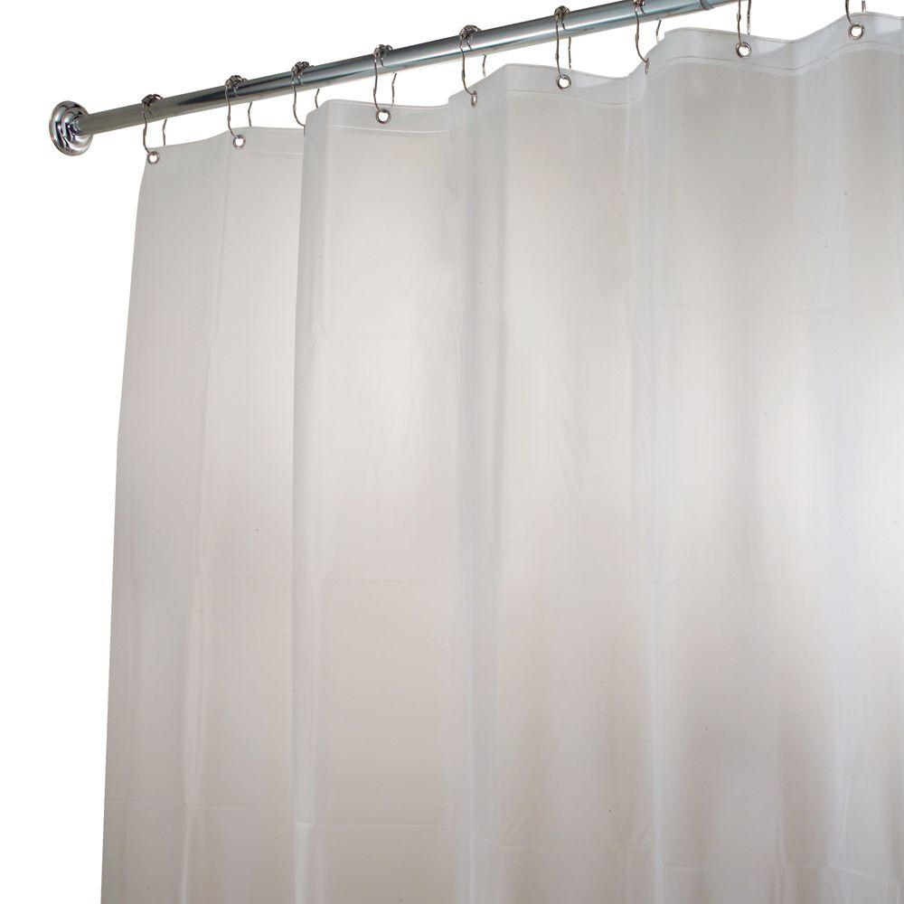 108 Long Shower Curtain Interdesign Eva Extra Wide Shower Curtain Liner In Clear Frost