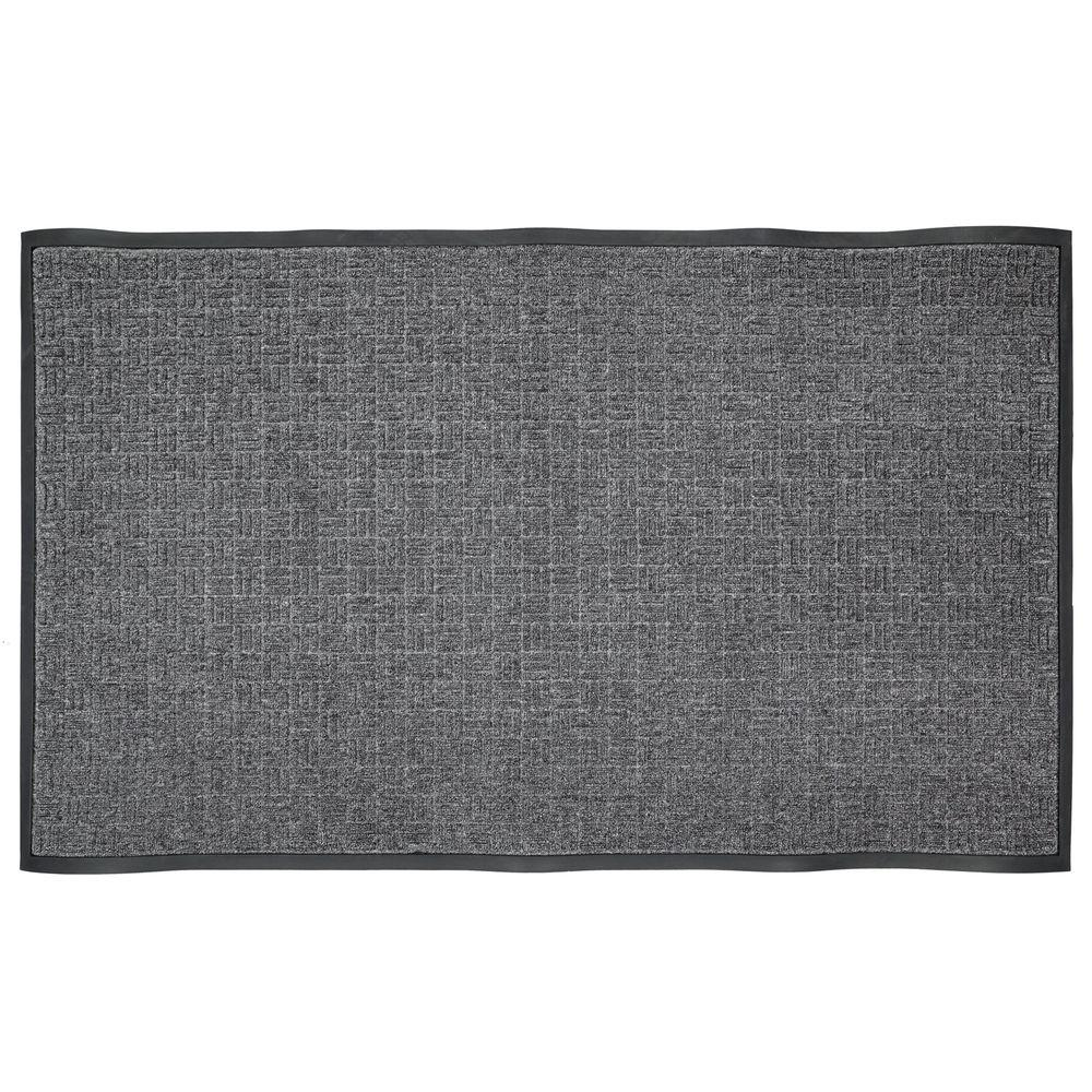 Commercial Rugs Trafficmaster Charcoal 46 In X 72 5 In Rubber Commercial Door Mat