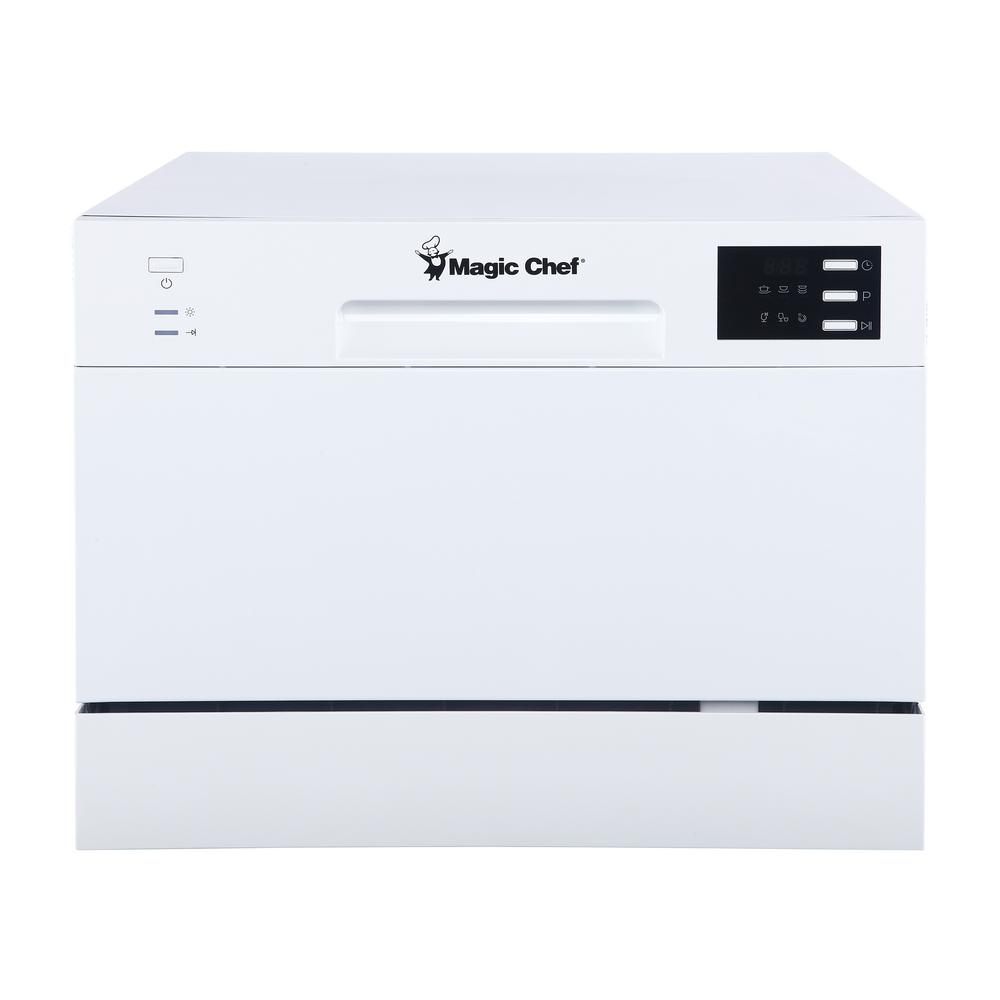 18 Portable Dishwasher Canada Magic Chef Countertop Portable Dishwasher In White With 6 Place Settings Capacity