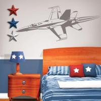 Sudden Shadows 70 in. x 20 in. Jet Fighter Sudden Shadow ...