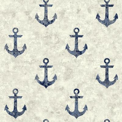 York Wallcoverings Nautical Living Anchor Away Wallpaper-NY4915 - The Home Depot