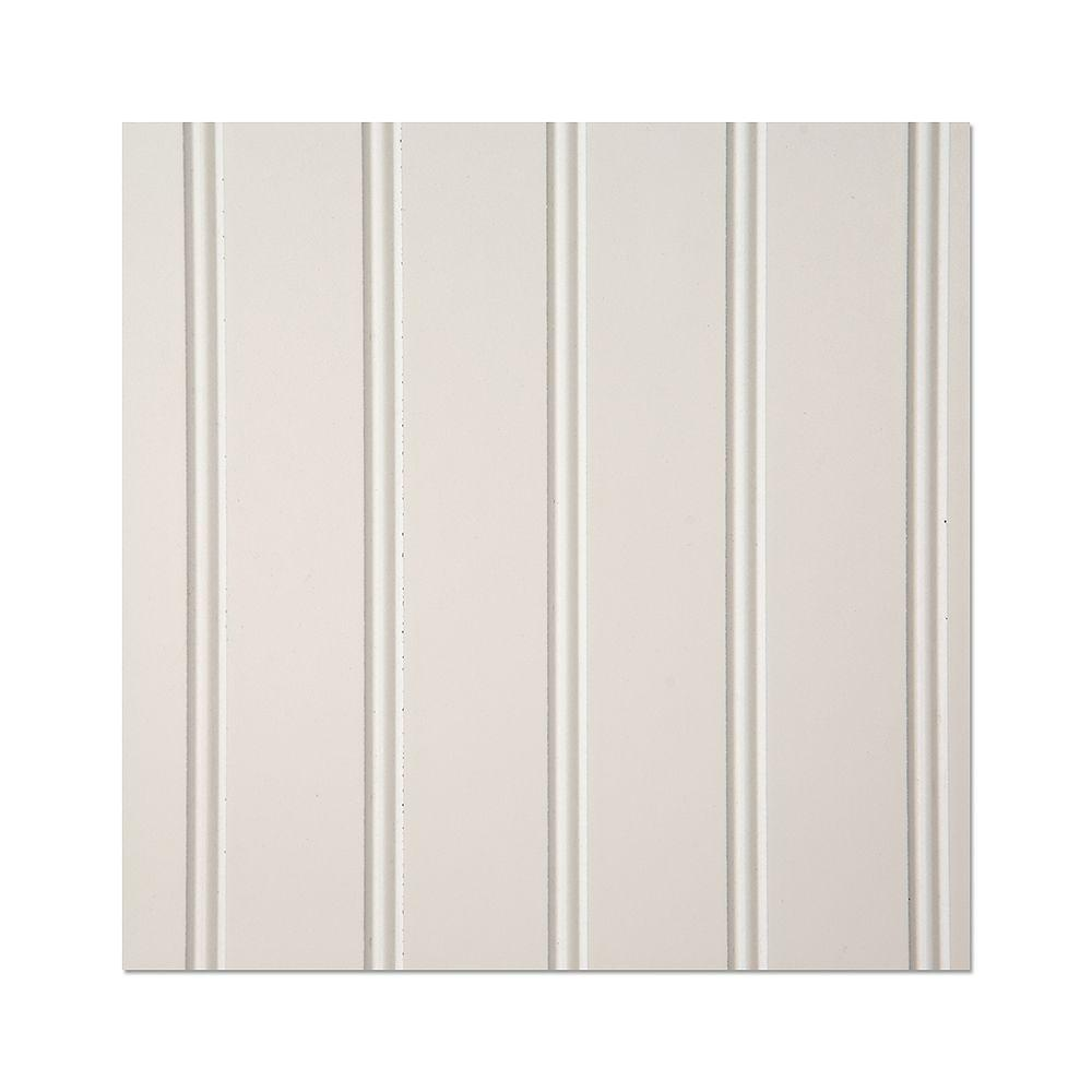 White Beadboard Wall Paneling Boards Planks Panels The Home Depot