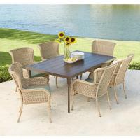 Hampton Bay Lemon Grove 7-Piece Wicker Outdoor Dining Set ...