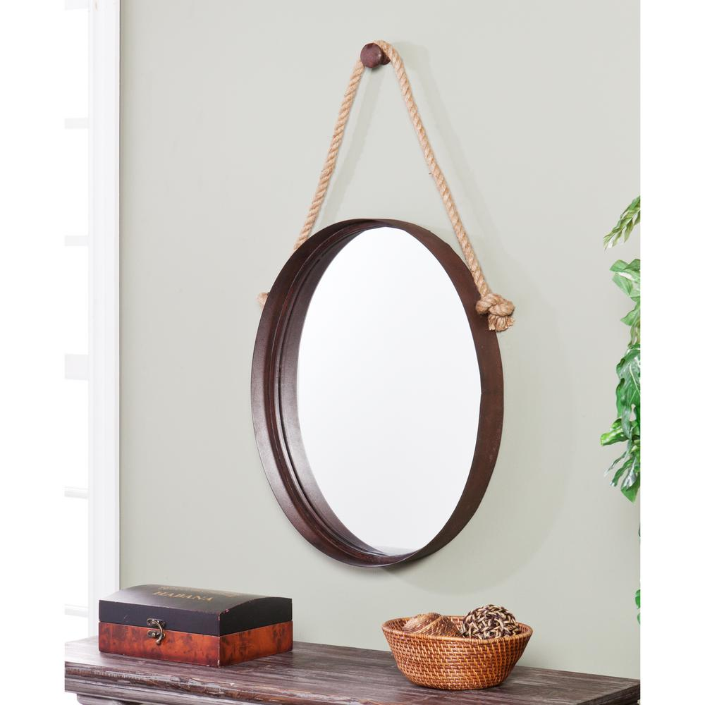 Decorative Mirror Southern Enterprises 38 5 In X 20 5 In Rich Rust Melinda Decorative Framed Mirror