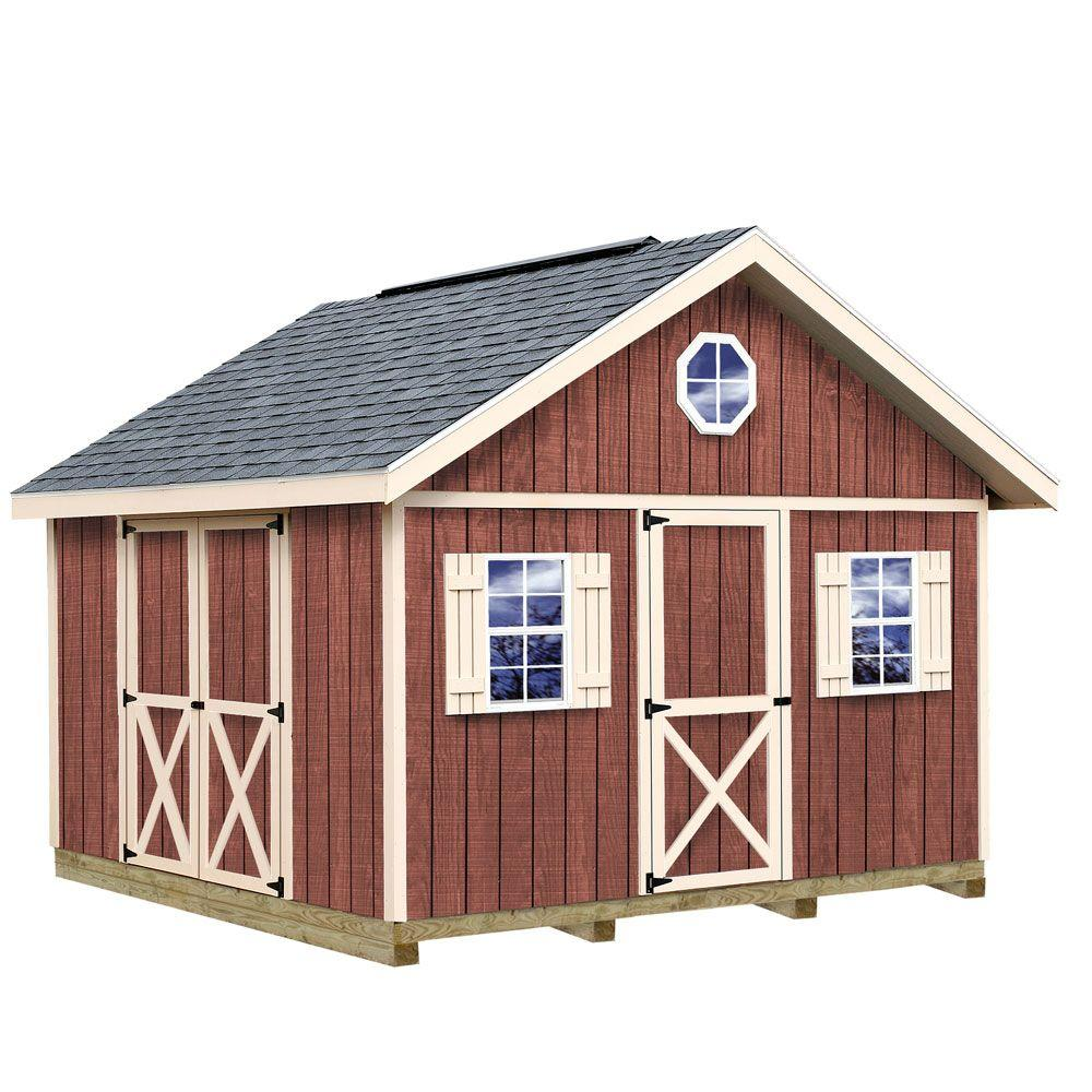 Home Depot Sheds For Sale Best Barns Fairview 12 Ft X 12 Ft Wood Storage Shed Kit With Floor Including 4 X 4 Runners