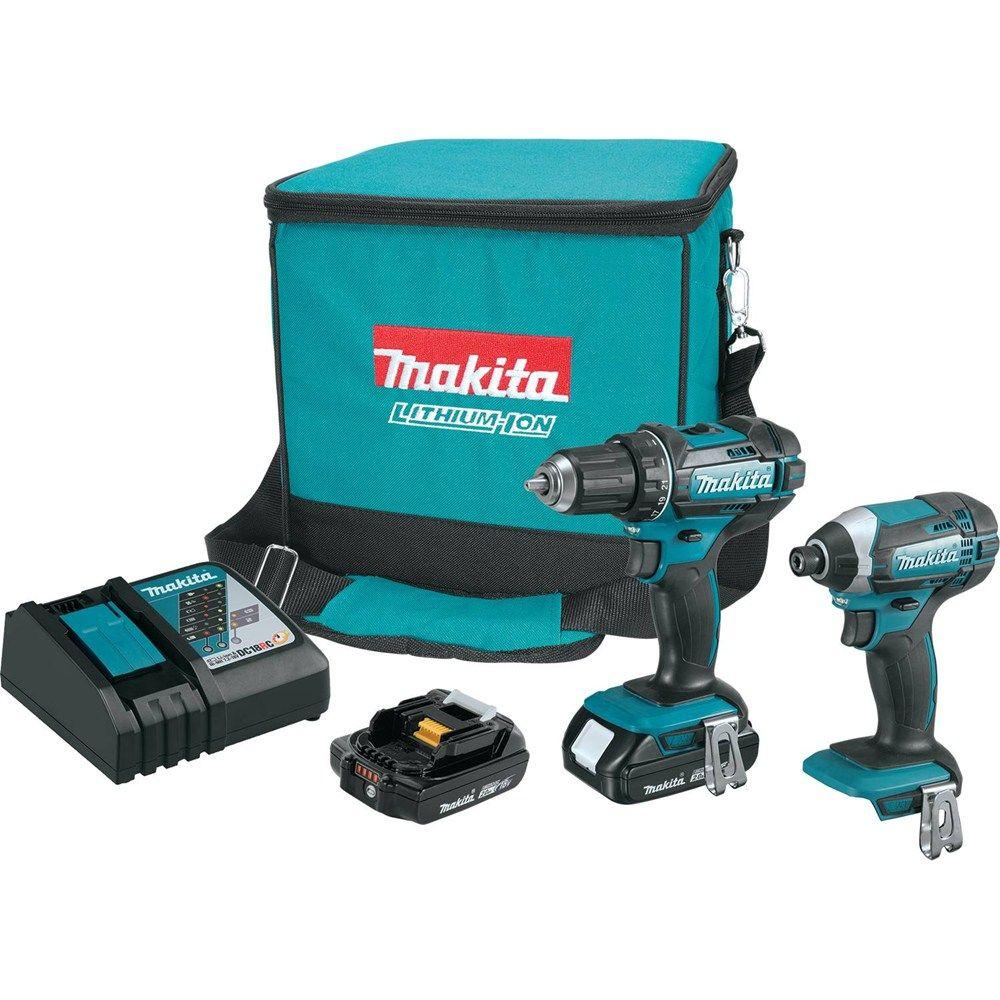 Sierra De Mesa Makita 18 Volt Lxt Lithium Ion Cordless Driver Drill And Impact Driver Combo Kit 2 Tool W 2 2ah Batteries Charger Bag