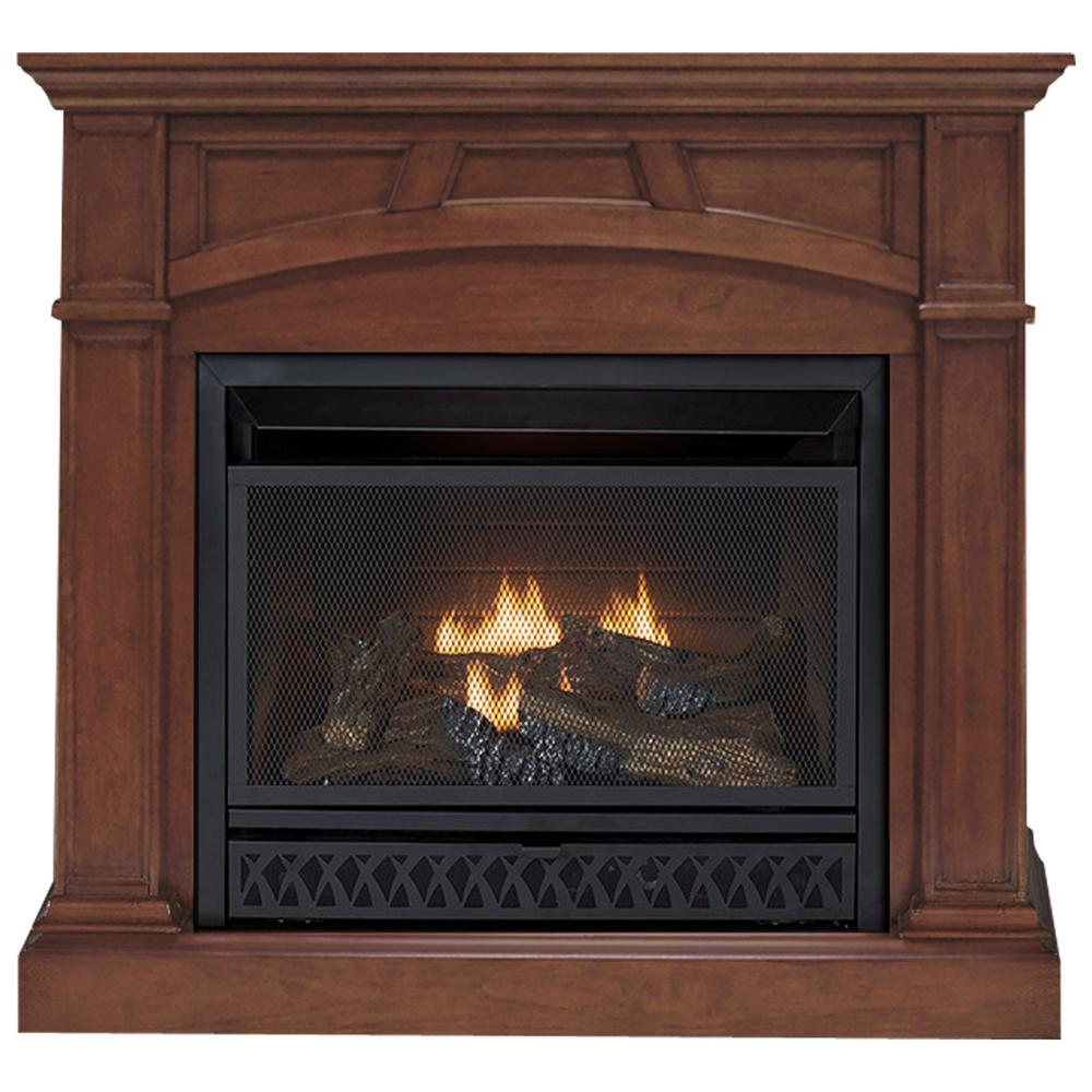 Gas Fireplace Store Emberglow 43 In Convertible Vent Free Dual Fuel Gas Fireplace In Cherry
