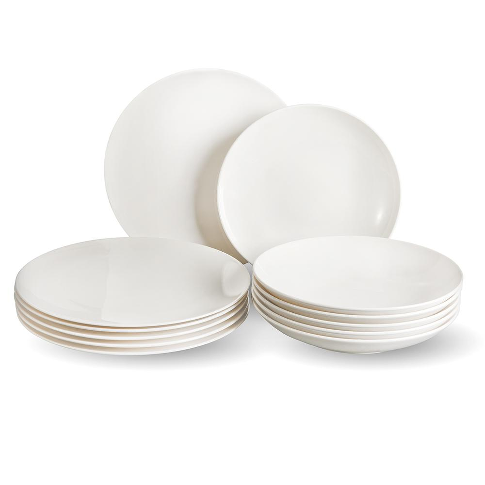 Villery Und Boch Vivo Voice Basic 12 Piece White Dinnerware Set