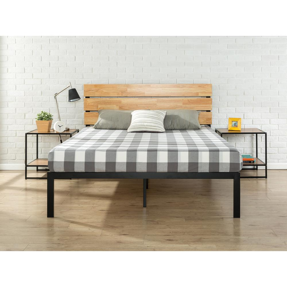 Cheap Wooden Bed Frames Zinus Paul Metal Wood Platform Bed With Wood Slat Support King