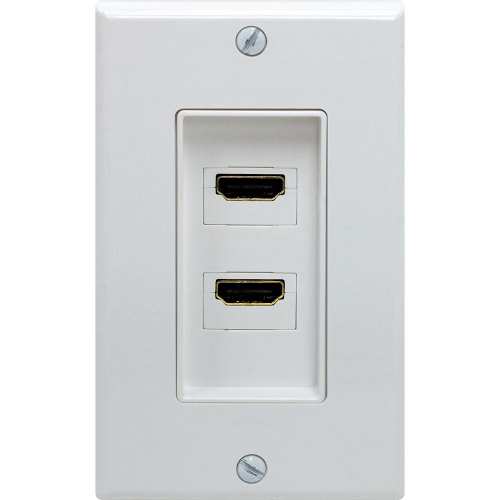 Hdmi Outlet Ge 2 Port Hdmi Wall Plate