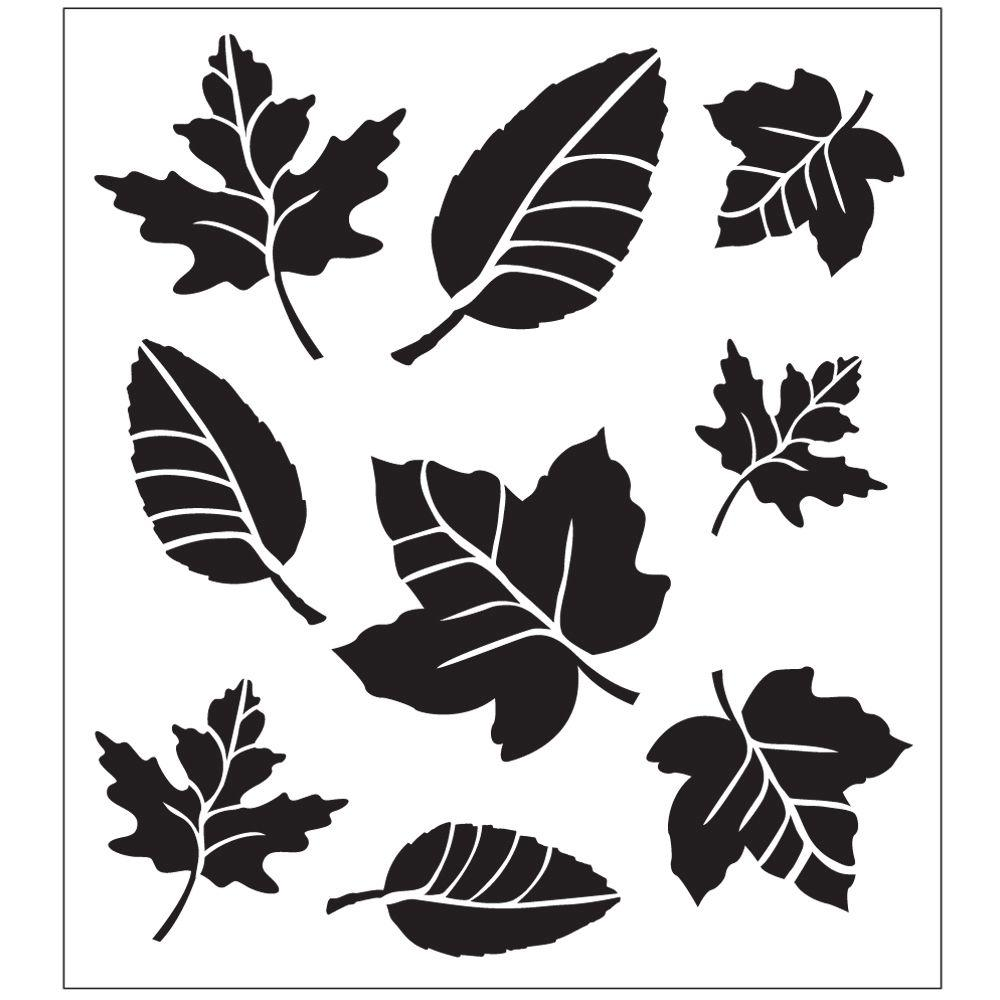 Stencils For Painting Folkart Leaf Variety Painting Stencils-30731 - The Home Depot