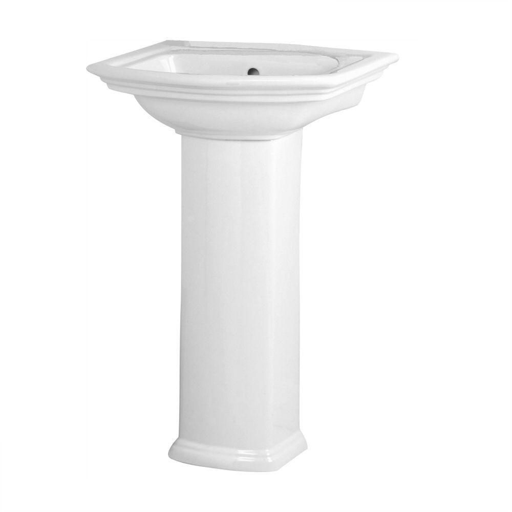 Washington 460 Vitreous China Pedestal Combo Bathroom Sink
