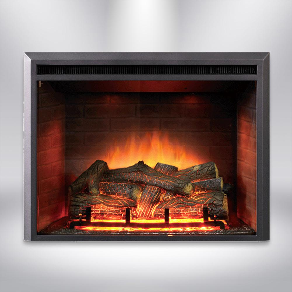 Free Fireplace Insert Dynasty Fireplaces 35 In Led Electric Fireplace Insert In Black Matt